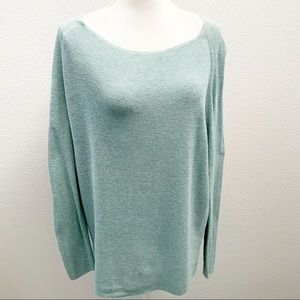Lou & Grey mint boatneck cotton sweater tunic